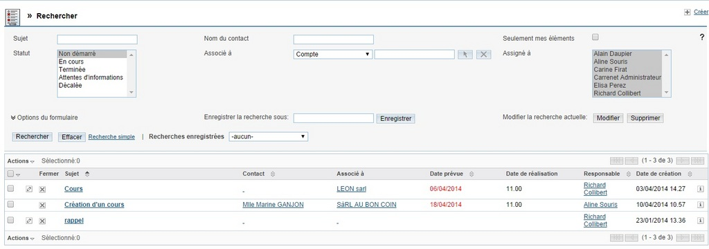 BasicCRM: Service Level Agreement (SLA), Opportunity Management, Maximum Users
