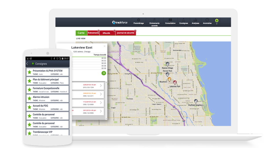 Equip your Security Officer with m-Post and create your very own Command Center online to monitor activities, GPS locations and incident dispatch