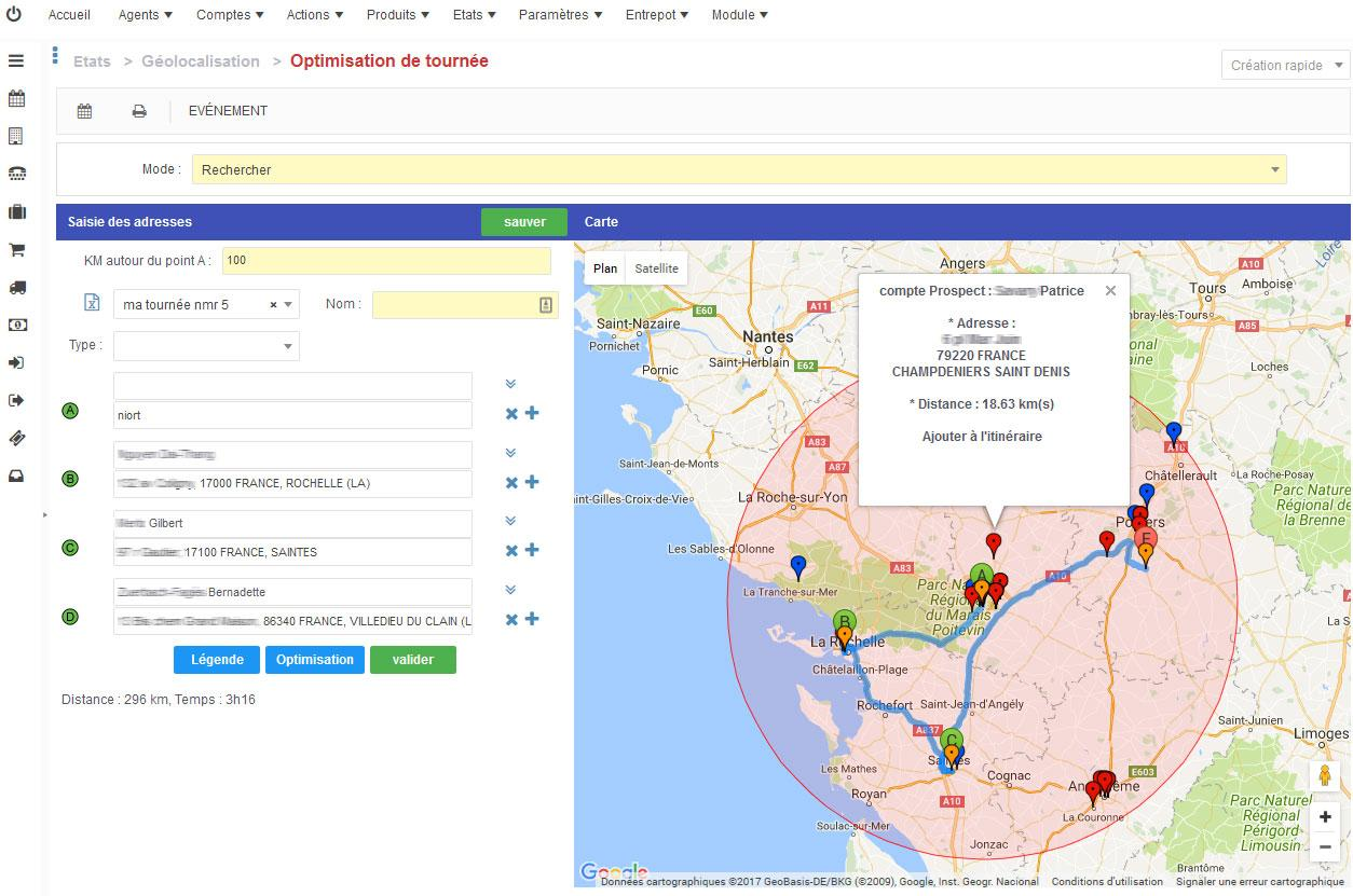 Geolocation and route optimization.