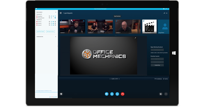 Dissemination meetings with Skype