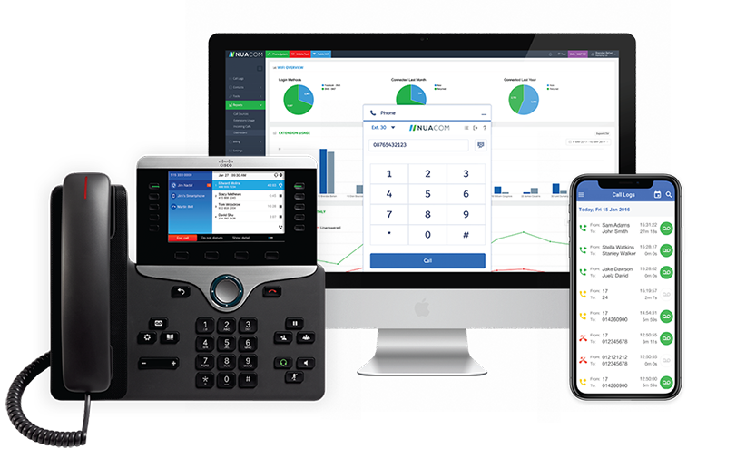 Get the combined power of our business IP phone, custom User Portal, Mobile App, and Softphone.