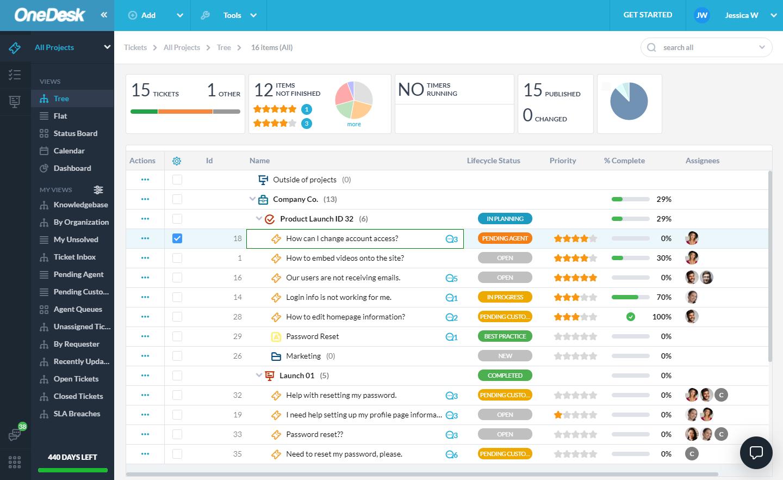 Review OneDesk: Help Desk & Project Management Software - appvizer