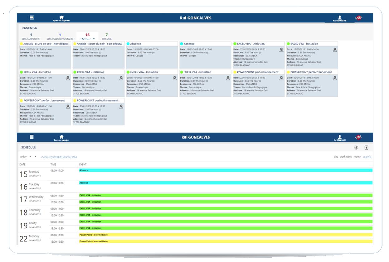schedules graphics