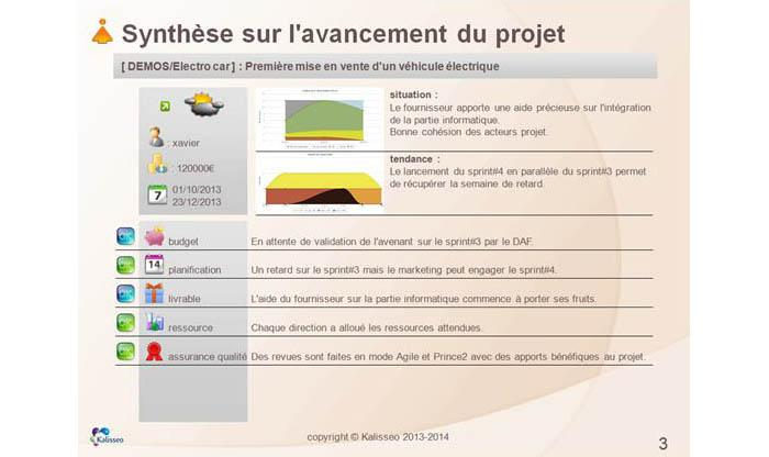 Kalisseo: Risk mapping, Budget Management, Prince2