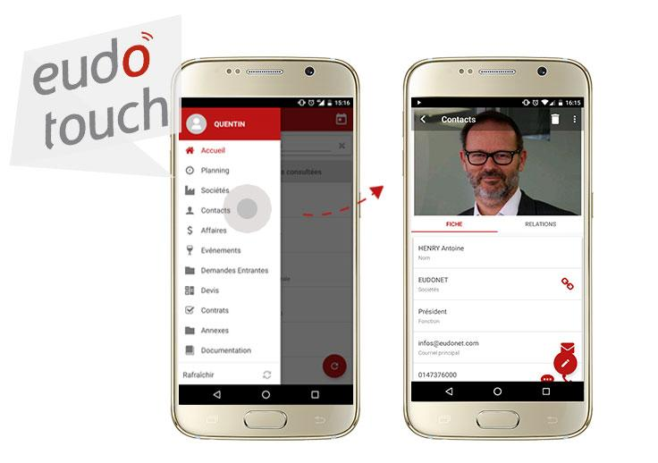 Embark all your data in your pocket and keep an eye on your activity even in situations of mobility through EudoTouch our mobile app for iOS and Android.