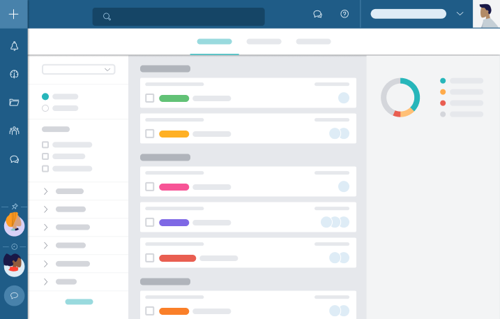 In Taskworld's Overview Page you can see the big picture or drill down into the details with our interactive dashboard. Filter information to get exactly what you need and focus on priorities.