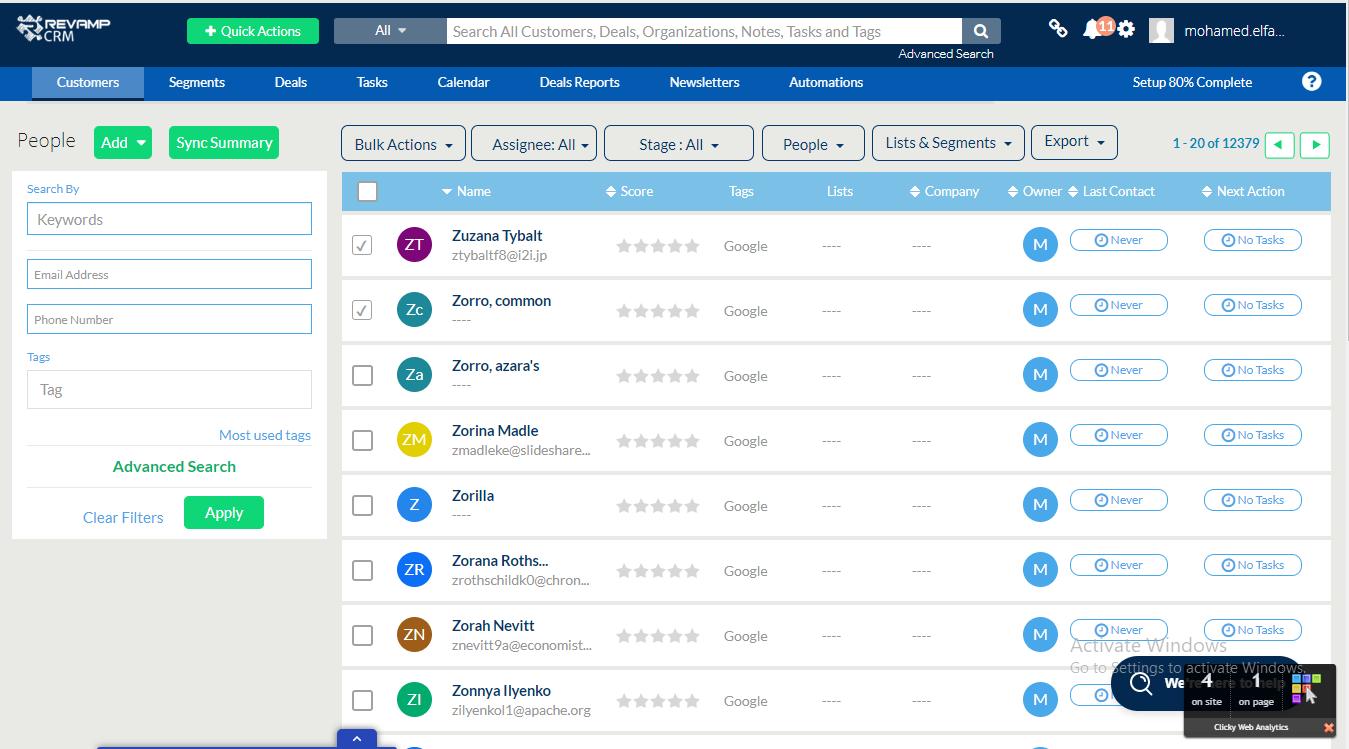 Review Revamp CRM: Customer Relationship Management (CRM) Software - appvizer