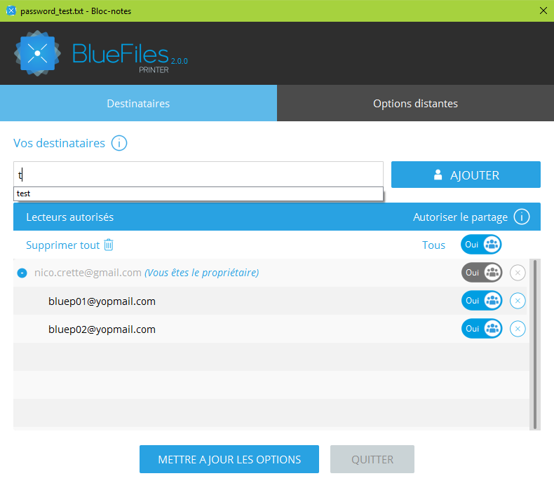 .blue creator of a file can manage the access rights to the file at any time, even after its release