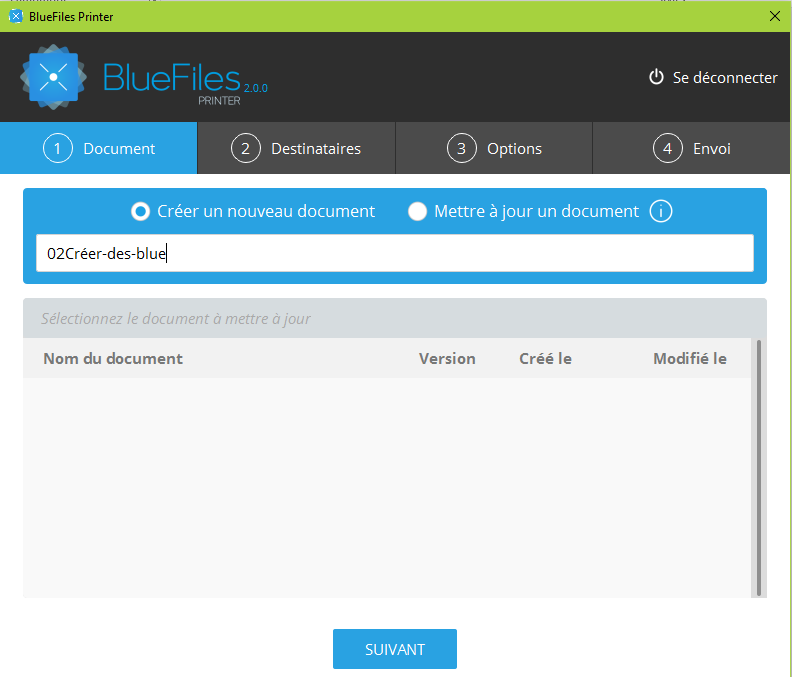 Printing size BlueFiles