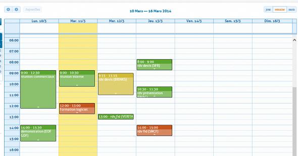 Contact RCMP in Calendar