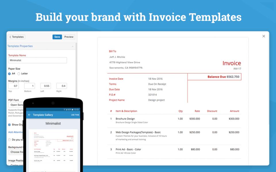 Zoho Invoice-screenshot-1
