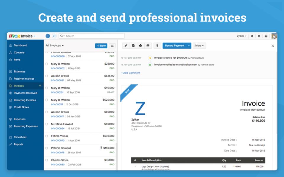 Zoho Invoice-screenshot-2