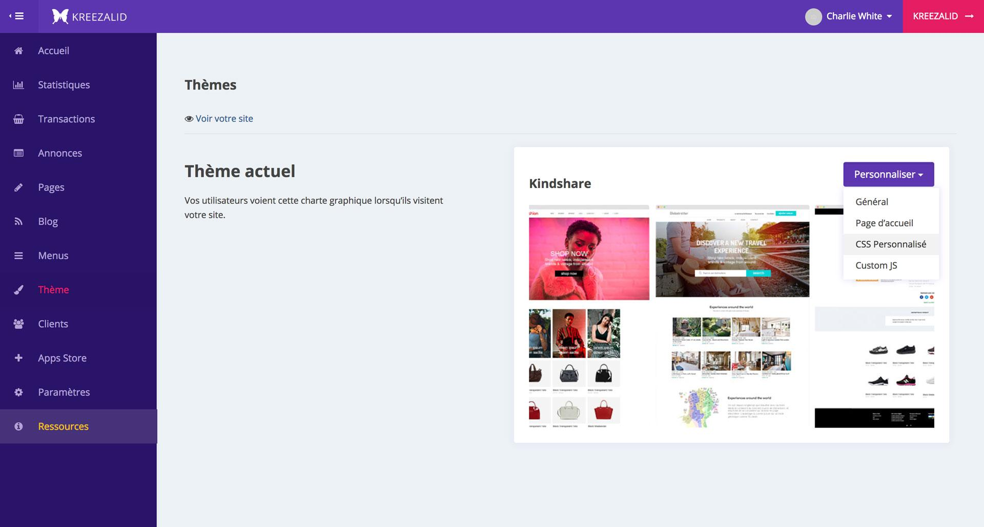 Add custom css to your marketplace