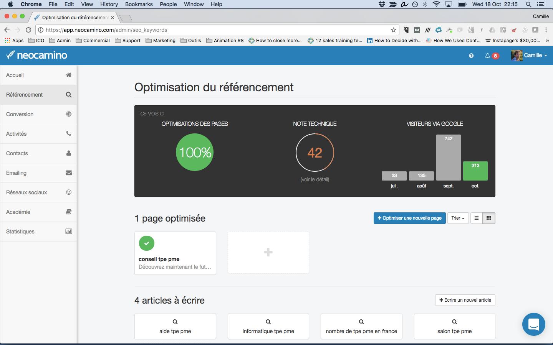Search Engine Optimization through Neocamino