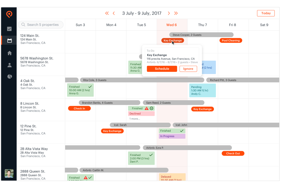 Properly synchronized Calendar with your booking calendar
