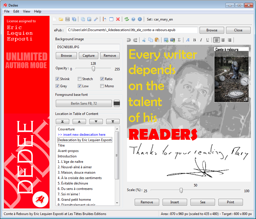 Review Dedee: 1st PC/Mac software allowing ebooks signing - appvizer
