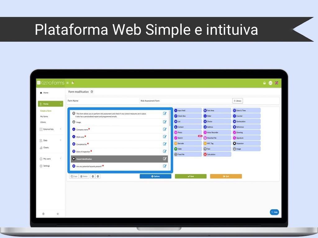 Kizeo Forms-Plataforma Web Simple e intituiva