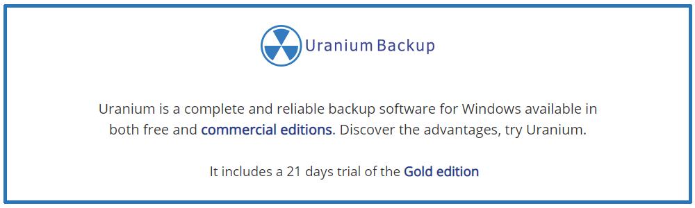Review Uranium Backup: Free backup software compatible with Windows Server - appvizer