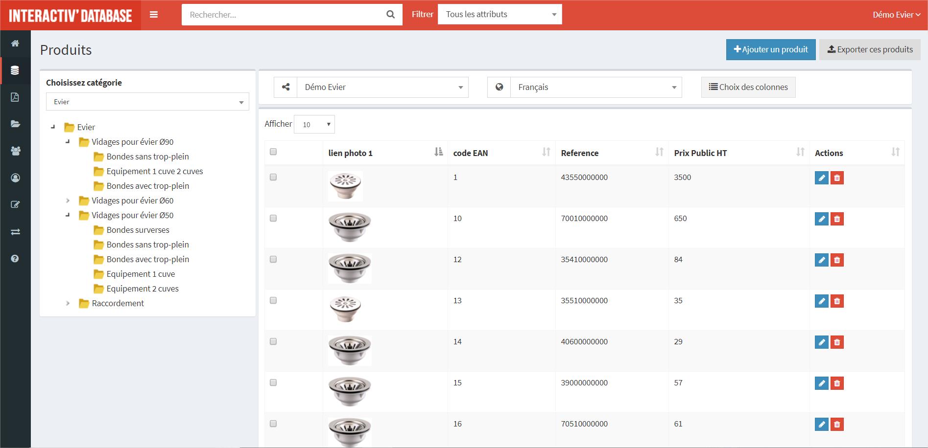 Interactiv' DataBase (PIM)-database v