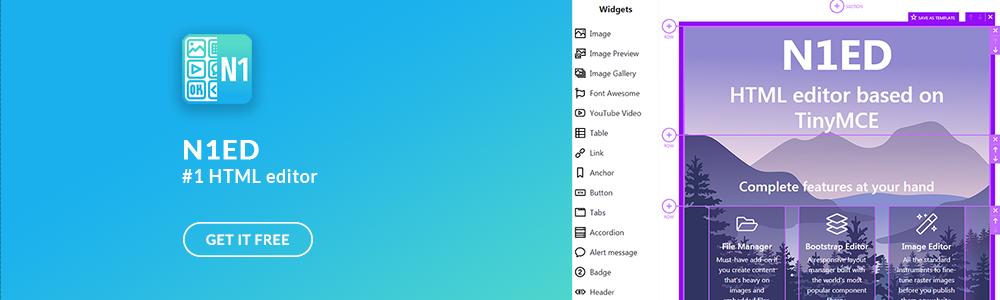 Review N1ED page builder: N1ED - new generation WYSIWYG editor for modern website - Appvizer