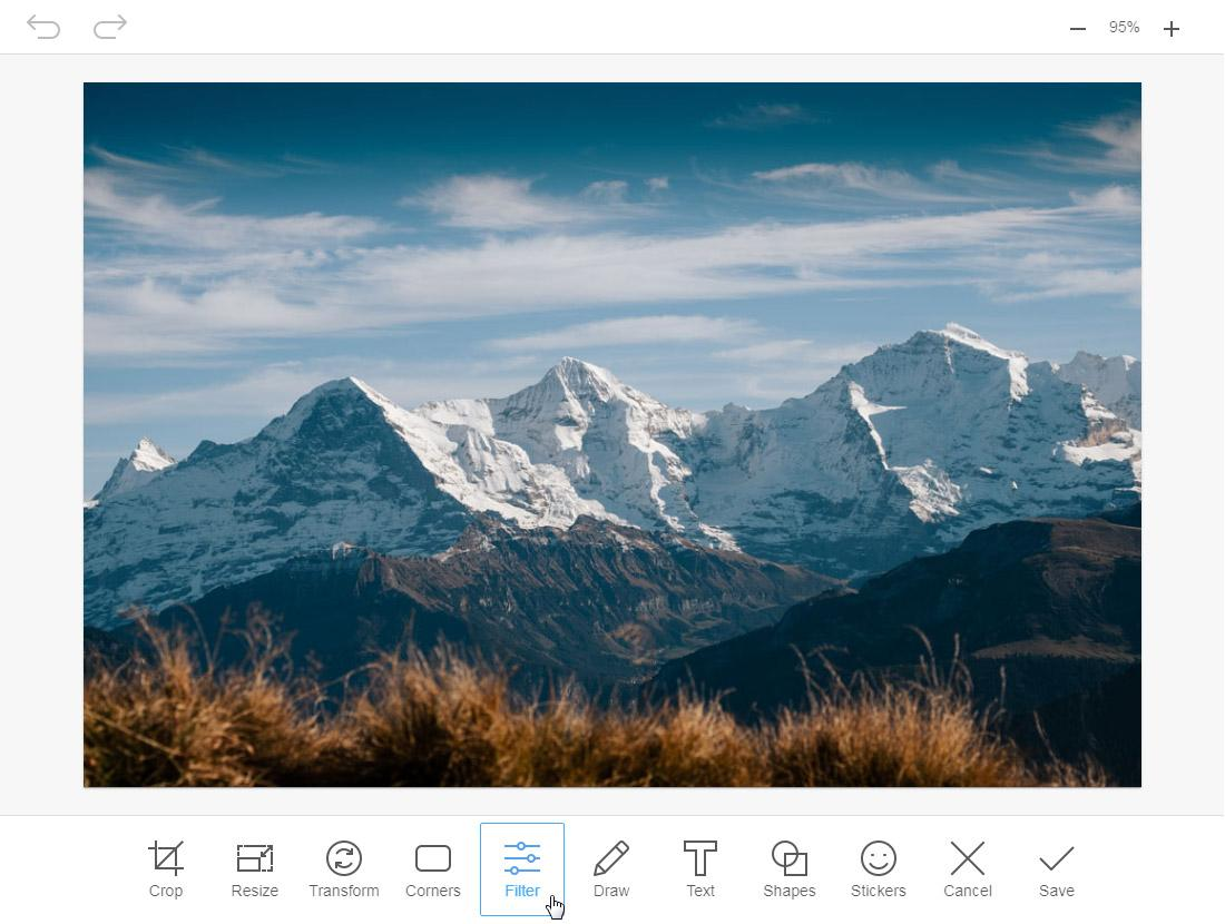 Built-in ImgPen image editor