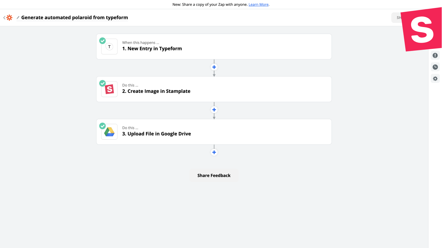Use your template in Zap automation