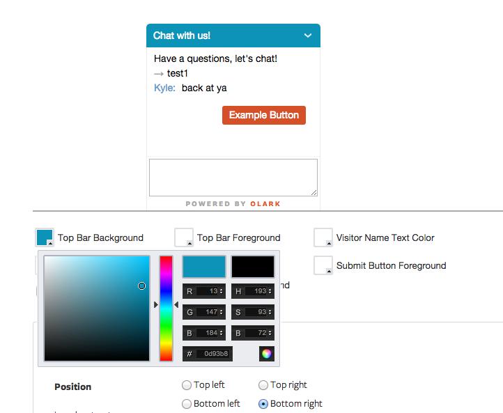Olark: Website (plugin, form), customer profile, Help Desk