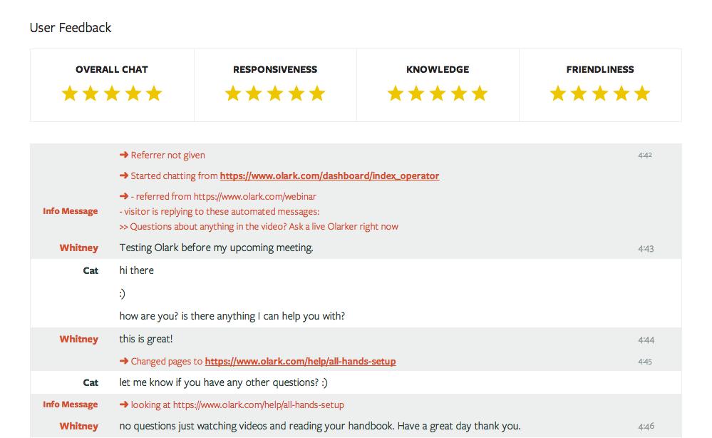 Olark: Mobile Application, offline mode, Basic knowledge (tutorials, demos)