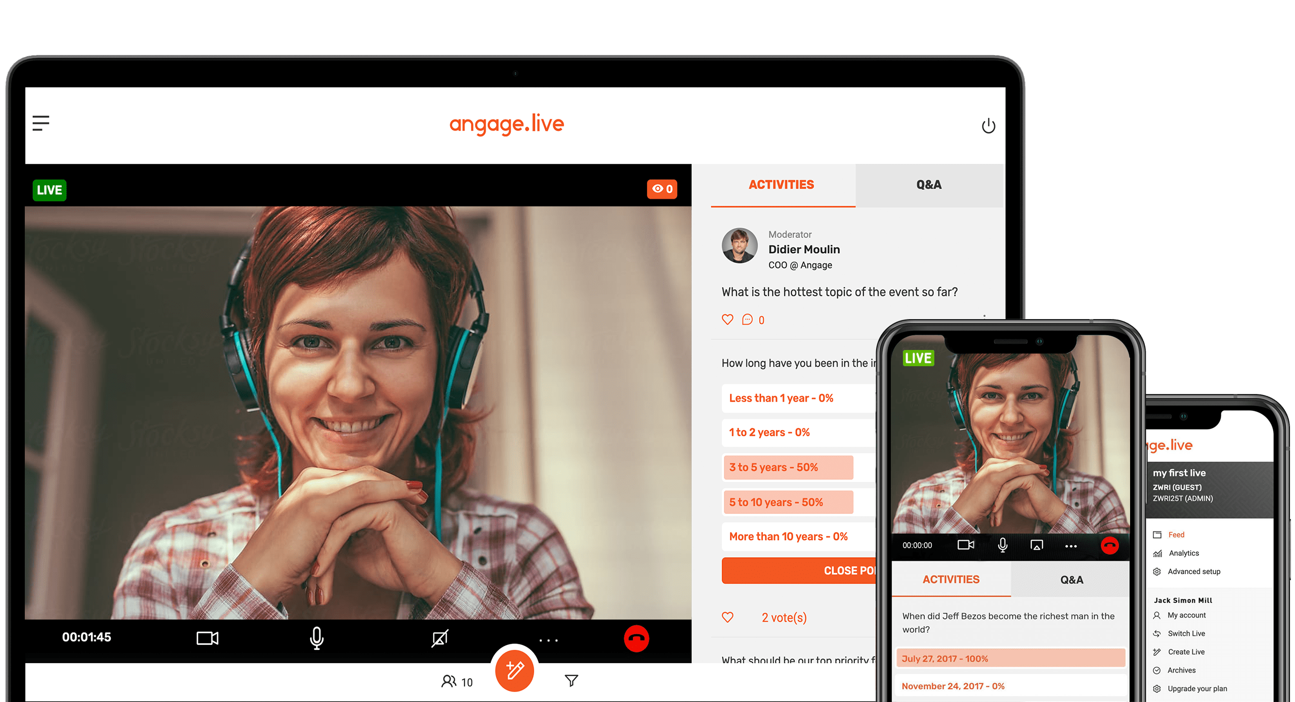 Review Angage Live: LIVE VIDEO, Q&A AND POLLING APP - Appvizer