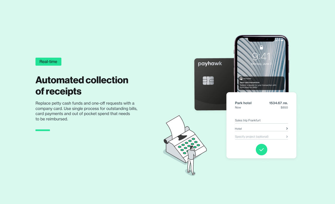 Automated collection of receipts