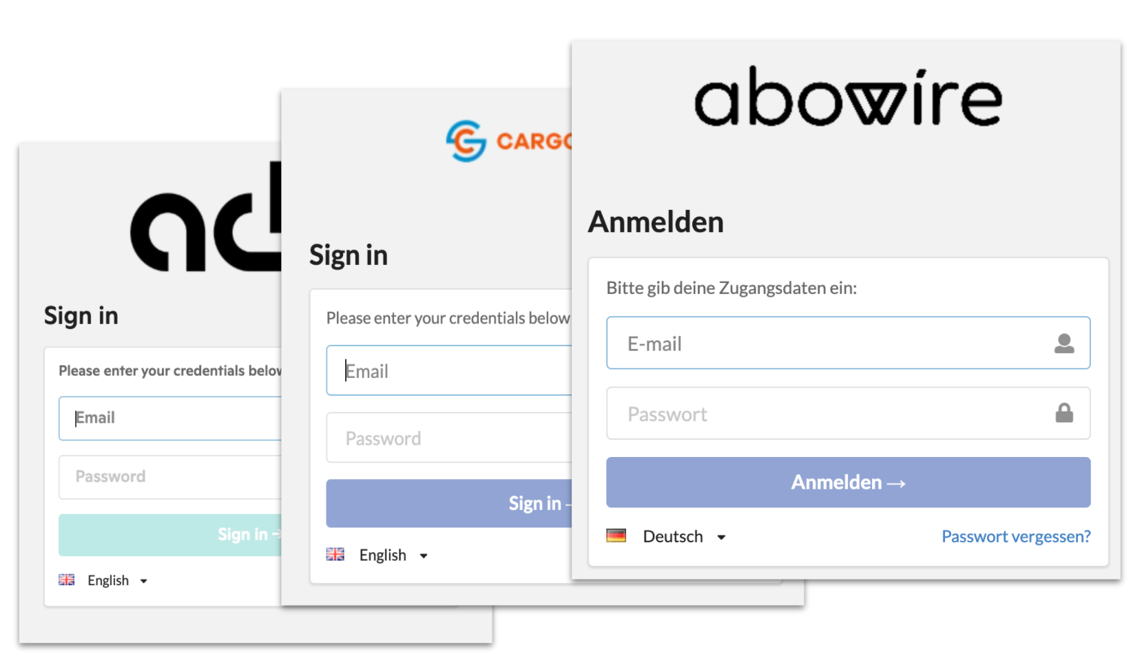Abowire login, tailored to your needs