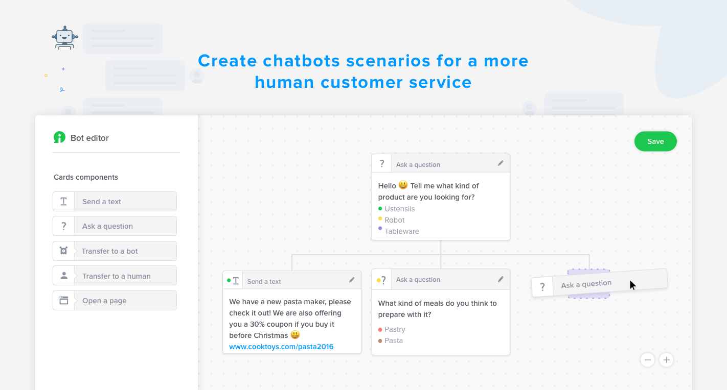 Automate some of your customer service and your qualifying Leads