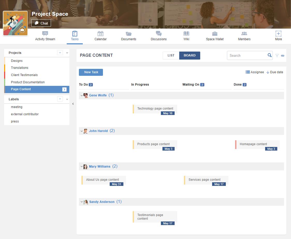 eXo Platform-Task Board 1