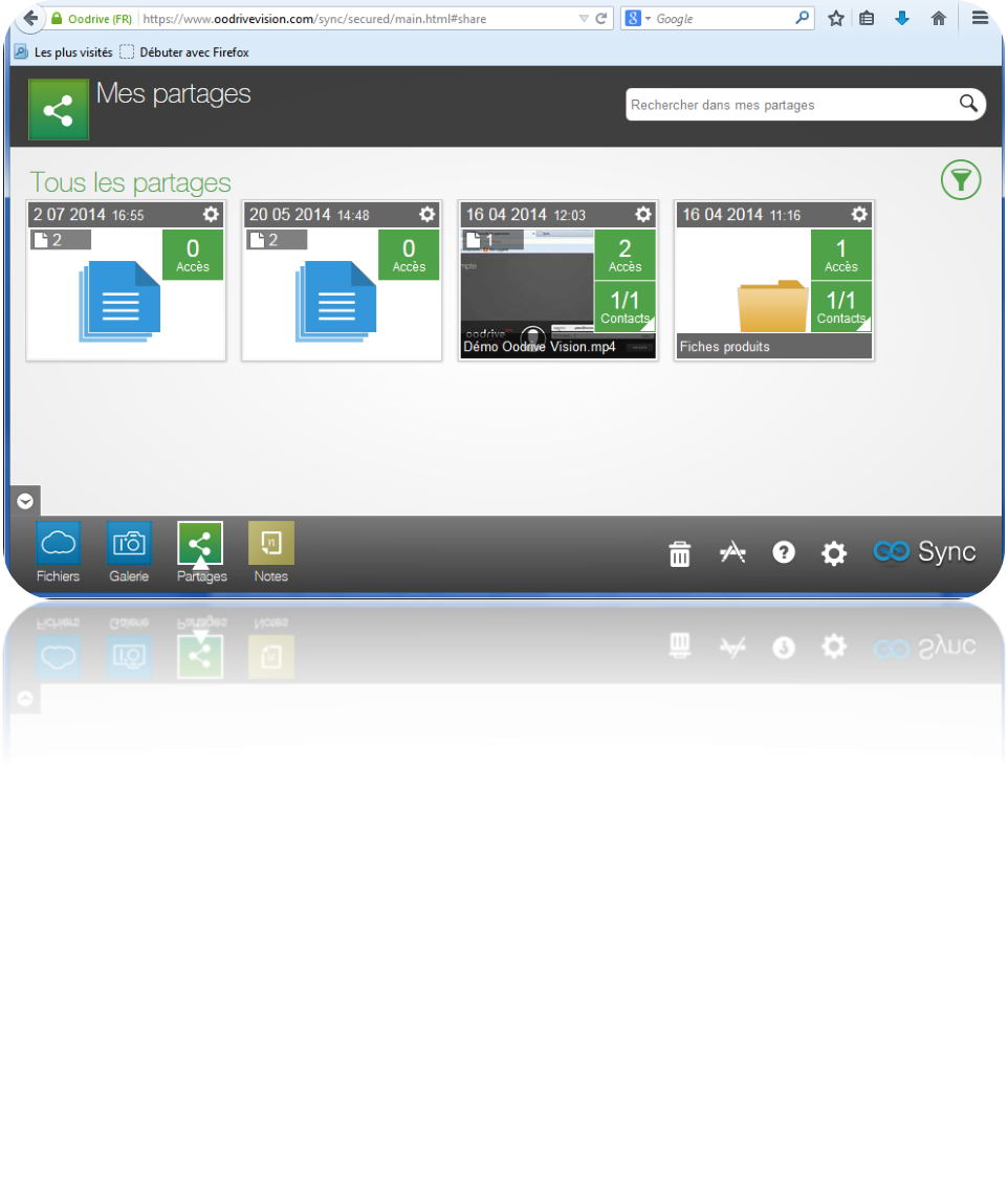Oodrive Sync: Versions of documents, 24/7 Support, strict control of access to servers
