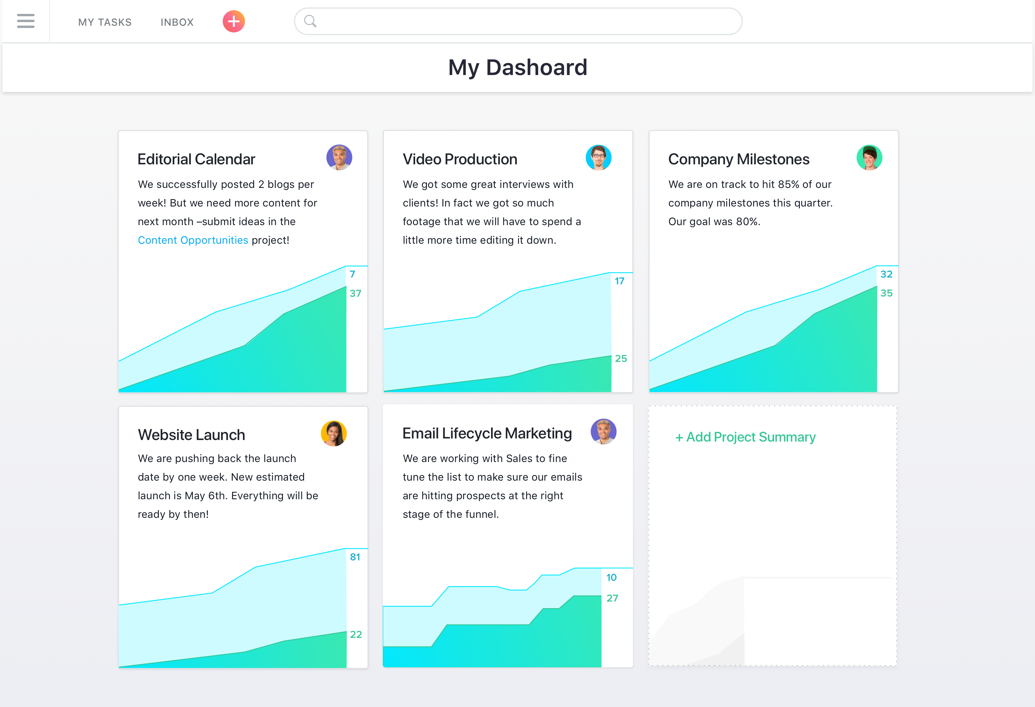 Asana dashboard, Asana: Task Manager, Task Manager, Import and export data (CSV, XLS)
