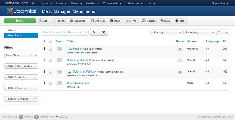 Joomla !: Photos and videos, Rights Management, Contact form