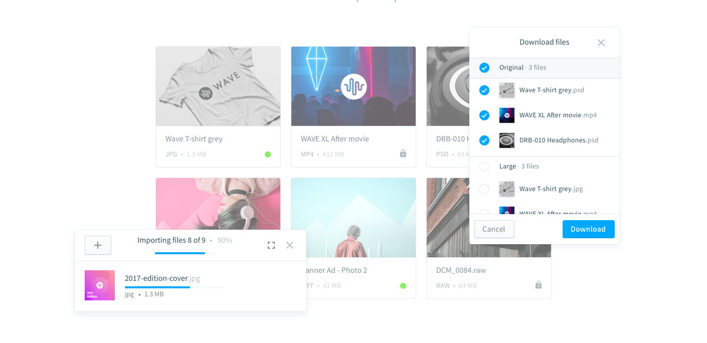 Import and simply organize your media files
