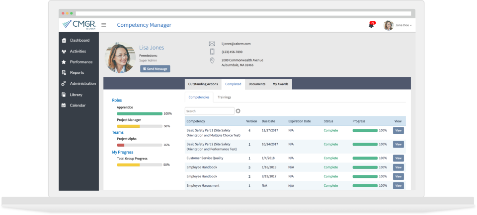 Competency Manager-competency manager dashboard