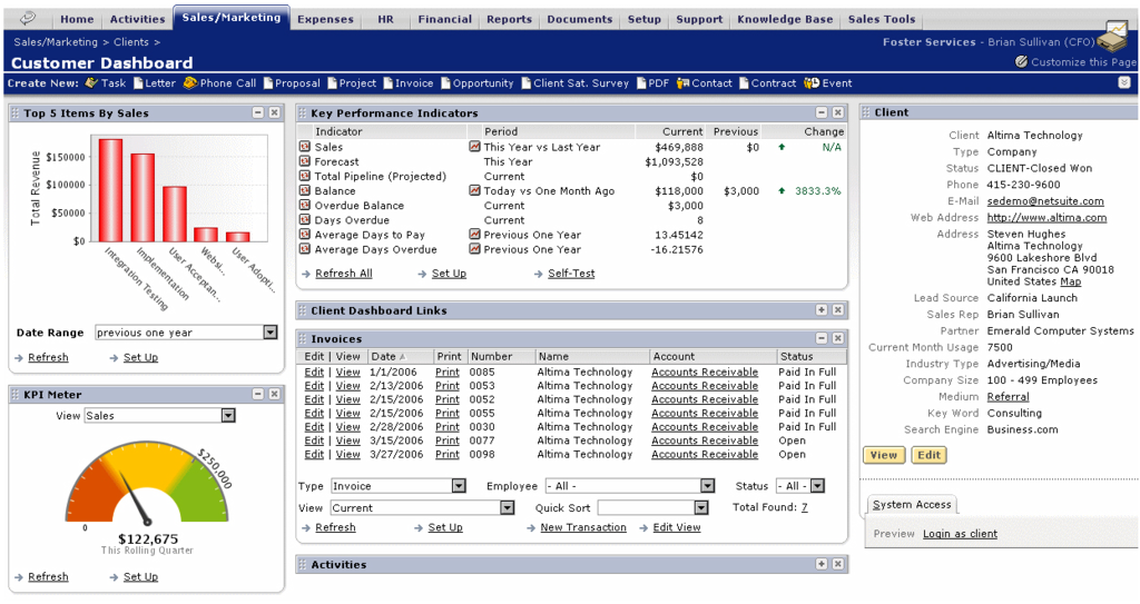NetSuite CRM +: Managing inbound commercial business proposals, Mobile App, shops Management