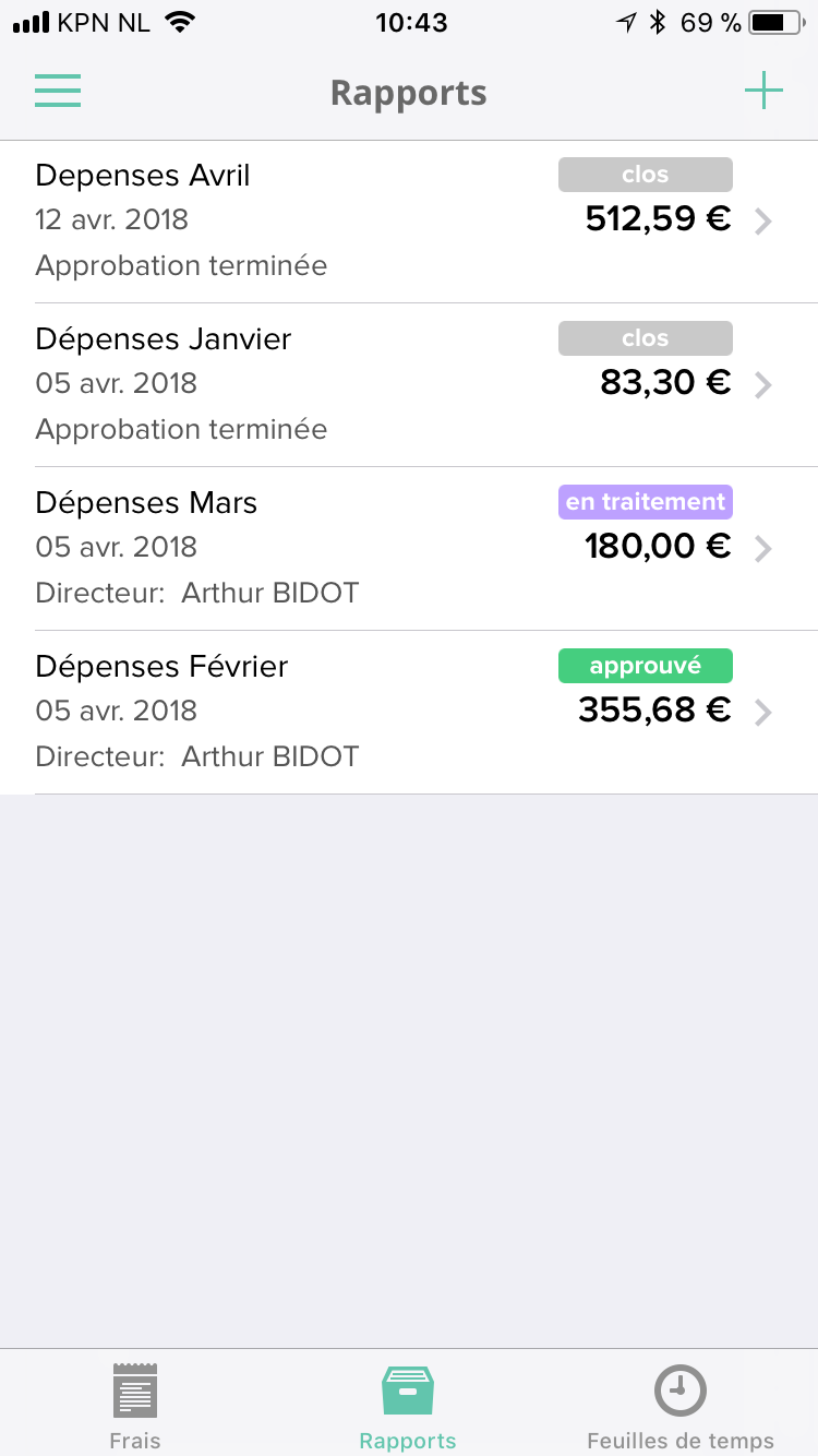 Mobile App reports