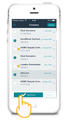 Mobile Application for validation of purchase invoices and demancdes