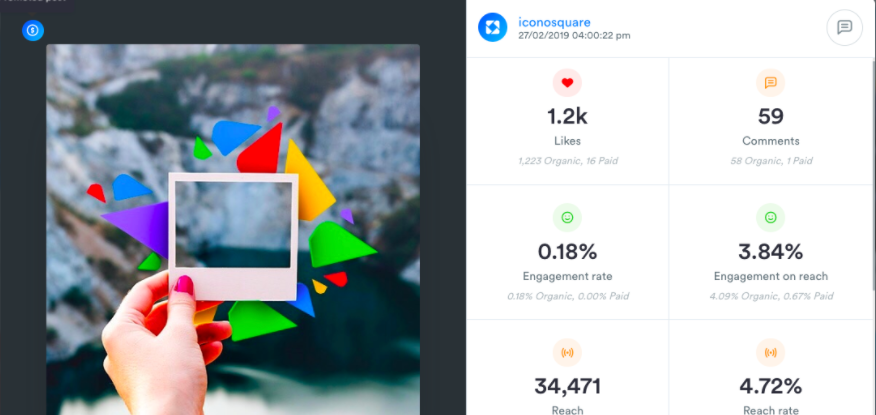 Users on the Advanced and Agency plans have access to Promoted Post Analytics for Instagram posts within the Media Viewer or the Analytics overview.